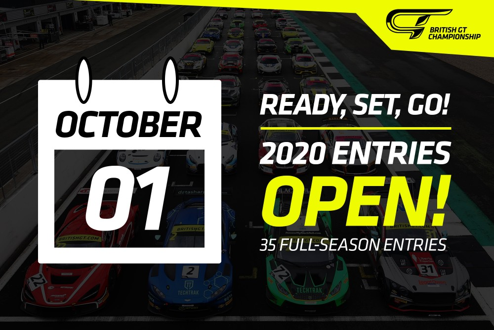 Entries open for British GT 2020