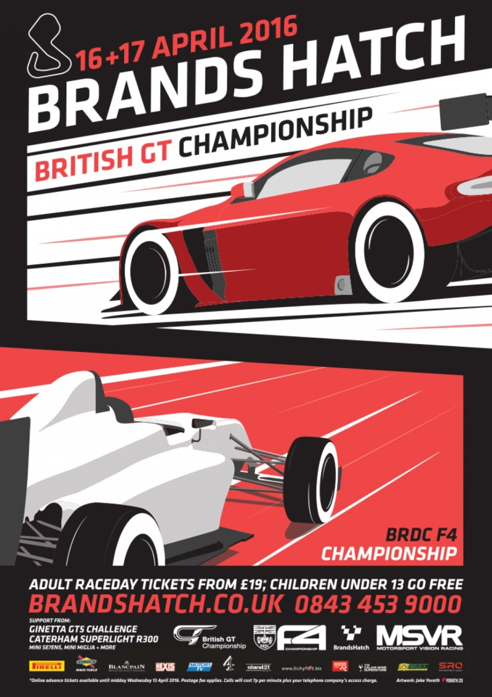 Brands Hatch poster first to feature British GT's striking graphic design concept